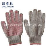 Baumwolle gestrickte Handschuhe der Sicherheits-7g mit ein den seitlichen Belüftung-Punkten