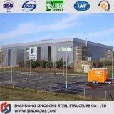 Construction commerciale préfabriquée de structure métallique pour l'agence