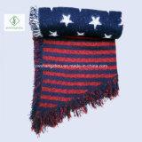 Шаль отдыха шарфа женщин способа зимы Европ напечатанная Звезд-Штангой вкосую