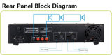 C-Yark Pubilc 주소 시스템 2u 선반 마운트 고품질 전력 증폭기