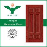 Houten Deur van de Vorm van het Comité van de Lage Prijs van pvc WPC van de Kleur van de melamine de Houten Binnenlandse