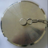 Casquillo oculto redondo sanitario del estruendo con el acero inoxidable de cadena 304 316L