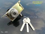 편평한 공이치기용수철 자물쇠 및 1개의 옆 개구성 과두 걸림 201d