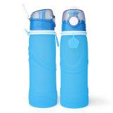 Fünf Farben Breit-Mund Filter-Nahrungsmittelgrad-Silikon-Wasser-Flasche