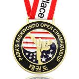 安く黒帯のための亜鉛合金の名誉の挑戦Taekwondoの空手の金属のスポーツメダルをカスタム設計しなさい