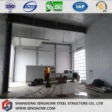 Structure de bâti en acier pour l'entrepôt avec le toit plat