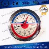 calibrador de la temperatura y de presión del diámetro de 80m m con la conexión posterior