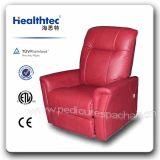 Brown del estilo de América, piel fabricada individual giratoria planeador Rocker sofá reclinable