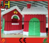 工場低価格の新しい終了するメリークリスマスの膨脹可能なサンタの小洞窟の家