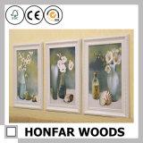 Blocco per grafici di legno bianco lussuoso della foto della pittura per la decorazione domestica