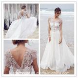 O tampão Sleeves os vestidos do baile de finalistas do partido que perlam o vestido de noite Te1522 do casamento de praia