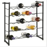 Stapelbare Metallwein-Zahnstangen-stehendes Wein-Flaschen-Einfluss-Gegenregal