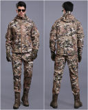 Het tactische Veelkleurige Militaire Waterdichte Eenvormige Kostuum van het Jasje + van de Broek