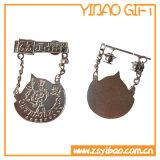 Médaille personnalisable en métal de promotion avec le bronze antique