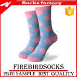 Glücklicher rosafarbener beiläufiger Socken-Zoll-Großverkauf