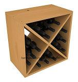 Cube en vin de pin de contrat de crémaillère de vin de qualité