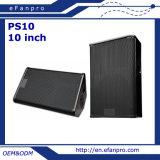 Cabina del altavoz de la etapa del monitor del suelo de 10 pulgadas con el claxon (PS10)