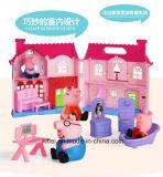 الخنزير [بغّي] لعبة منزل لأنّ بنت أطفال لعب