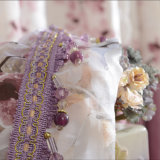 Rideau en guichet estampé par toile florale populaire d'arrêt total de polyester (29W0039)