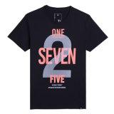 Coton neuf de T-shirts de mode d'hommes estampé autour des T-shirts de collet