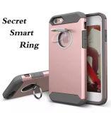 Caixa combinado do telefone de pilha do silicone plástico com anel do discrição para iPhone7/7puls (XSEH-021)