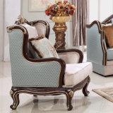 Cadeira de madeira do sofá e Loveseat com tecido de veludo