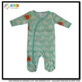 クジラの印刷の赤ん坊の衣服のフィートの赤ん坊Playsuits