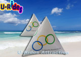 Anunciando a bóia de flutuação inflável do mar com logotipo personalizado