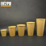 Tazza di caffè calda stampata abitudine del tè della tazza della carta kraft
