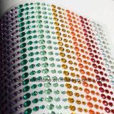 Collants tous de Rhinestone dans les Rhinestones colorés auto-adhésifs d'une gemme de feuille (TP-colorés)