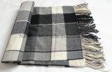Stola dell'assegno verde classico/sciarpa acriliche calde (HWBA004)