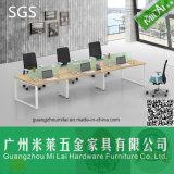 Mesa de escritório lateral dobro da alta qualidade com pé da tabela da ferragem
