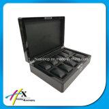 Caja de presentación de madera del reloj de la laca del piano de la alta calidad con la almohadilla