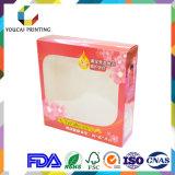 Коробка окна любимчика PVC ясности слоения лоска бумажная для косметики