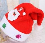 Chapéu relativo à promoção de Santa do luxuoso, chapéu verde, chapéus do Natal