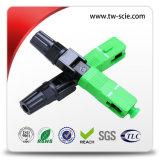 FC 원형 케이블 광섬유 빠른 연결관 53mm Sm/mm 광케이블 연결관