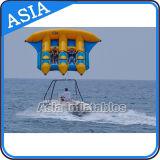 PVC防水シートの膨脹可能な飛魚座の管のTowable/膨脹可能な水ゲームは海のためのバナナボートを毛鉤で釣る