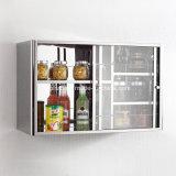 Шкаф хранения кухни продукта мебели нержавеющей стали прочный (7033)