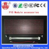Indicador vermelho do texto do módulo da tela do diodo emissor de luz do único MERGULHO da cor P10