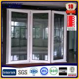 Bi de aluminio plegable de la puerta de madera del color con Individual Doble cristal