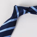 Relation étroite 100% fabriquée à la main barrée de relation étroite teinte par filé occasionnel de jacquard de carrière de mariage de flèche du polyester 8cm de la cravate des hommes de mode