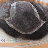 Hairpiece pieno di riserva poco costoso del Mens della base del merletto di prezzi bassi di 100%