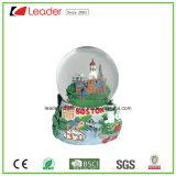 Globo della neve personalizzato regalo di Polyresin con l'edificio di Flowers& per il regalo del ricordo e la decorazione domestica