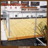 Inferriate fissate al muro esterne della balaustra dell'acciaio inossidabile del balcone & del terrazzo con vetro (SJ-H3027)