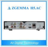 Receptor satélite poderoso novo Zgemma H5 de México/América. Afinadores combinados do ósmio E2 DVB-S2+ATSC Hevc/H. 265 do linux da C.A.
