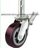 Sicheres langlebiges Gut, das Fußrollen-Räder der Dekoration sperrt