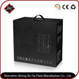 Rectángulo de color plegable de papel modificado para requisitos particulares del almacenaje de la insignia para los productos electrónicos