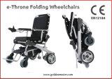 Súper ligero, plegado rápido / fácil, portátil, cómodo, adaptable silla de ruedas eléctrica, 50% de ahorro de batería