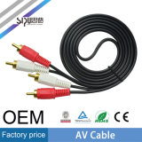 Maschio di Sipu 3.5mm Jack al video avoirdupois cavo maschio di 2RCA
