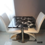 Disque Résistance aux rayures noir Quartz Pierre Dining Table (800mm X 800mm)